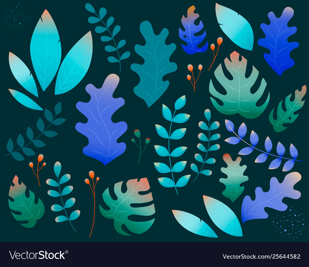 Floral and botanical modern set for posters