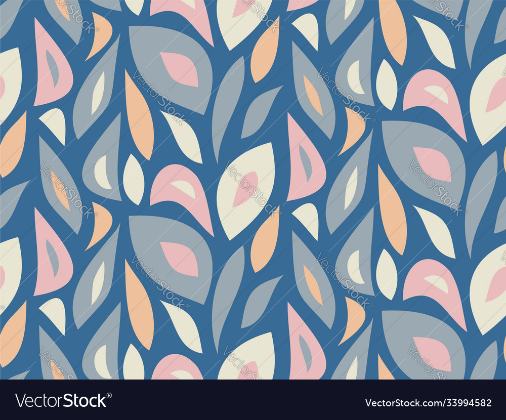 Foliage pattern seamless modern background