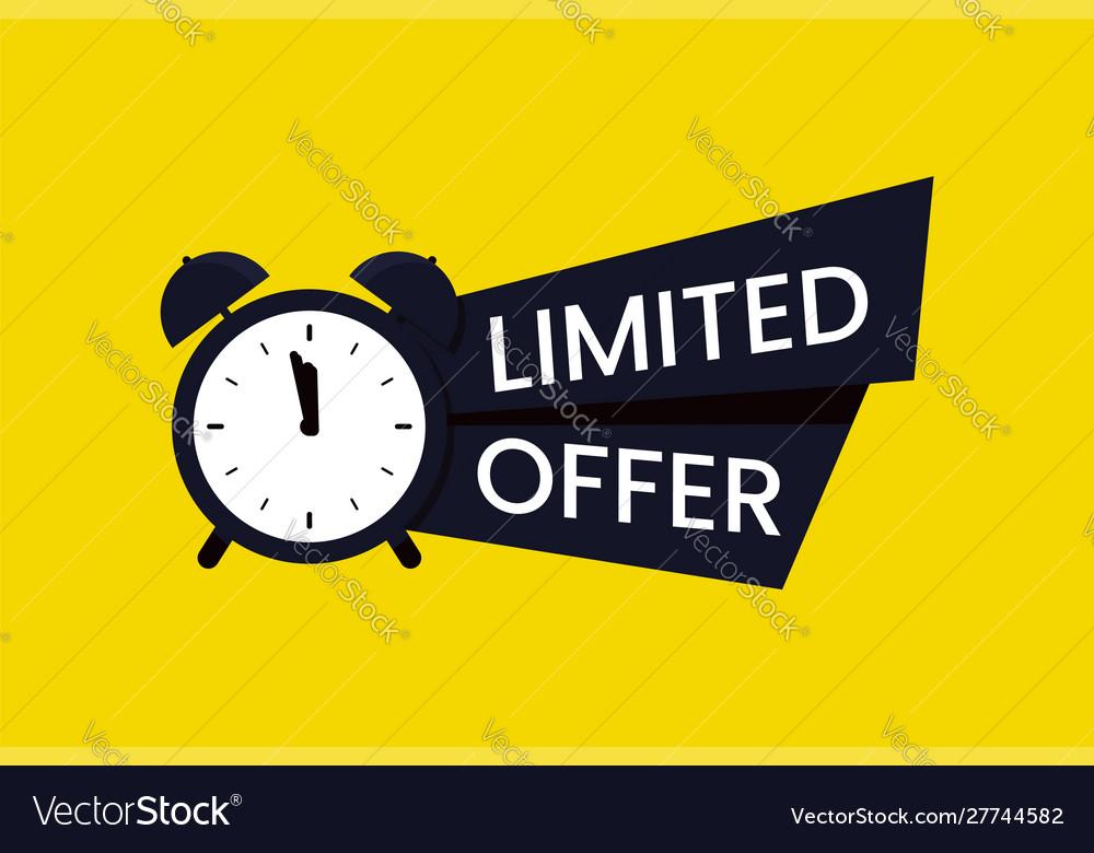 red limited offer logo symbol or banner special offer animation offer #10