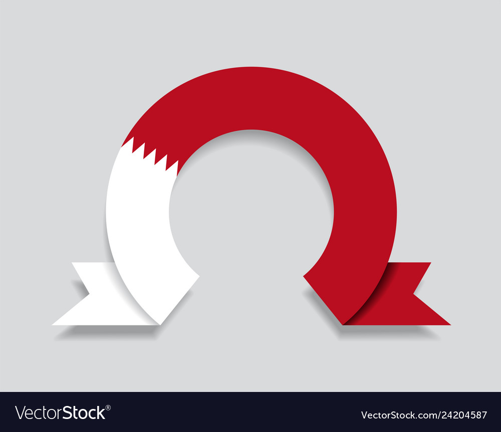 Bahrain flag rounded abstract background