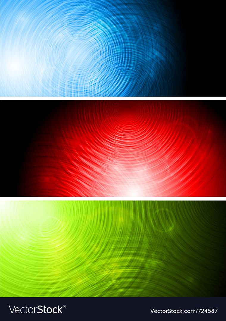 Bright banners collection vector image