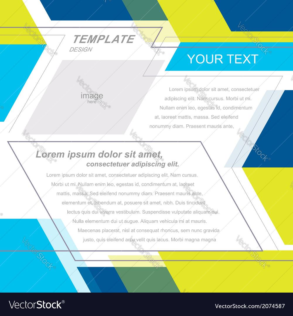 Brochure template design geometric abstract