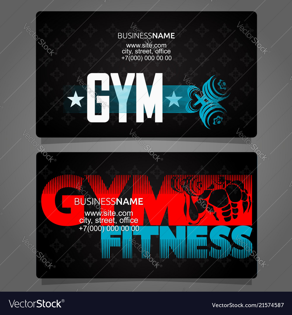 Gym business card royalty free vector image vectorstock gym business card vector image colourmoves
