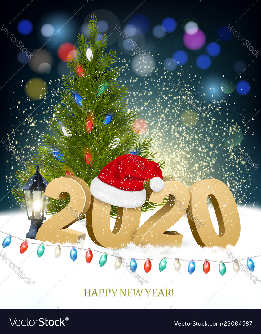 New year and merry christmas holiday background