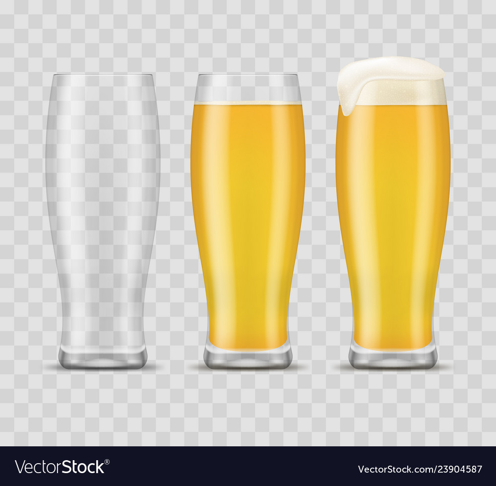 Realistic 3d detailed beer mugs set