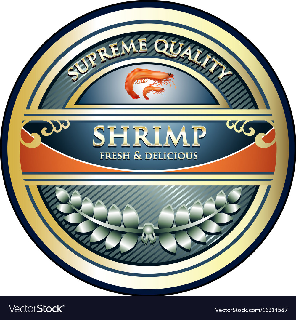 Shrimp gold icon