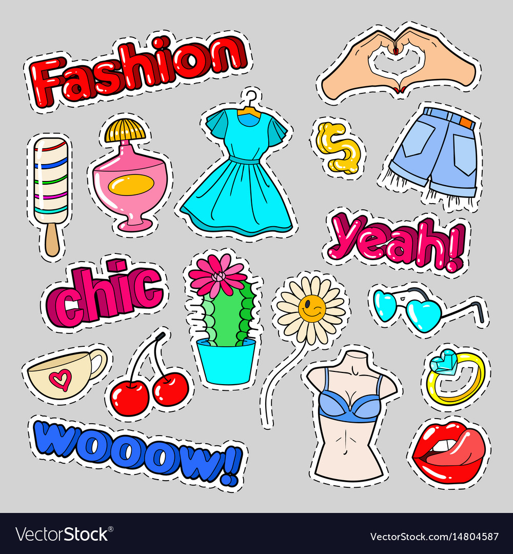 Teenager fashion badges patches and stickers