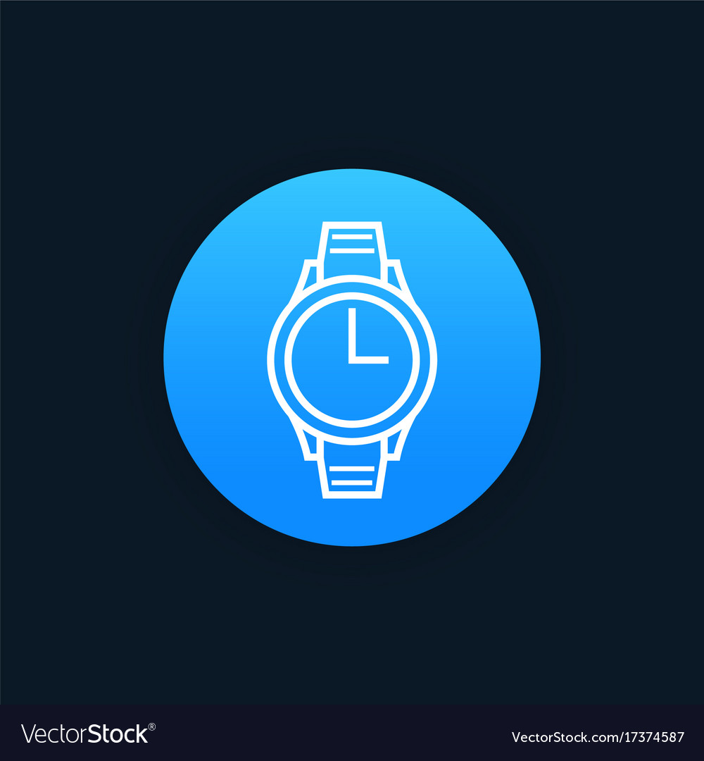 Watch icon linear style