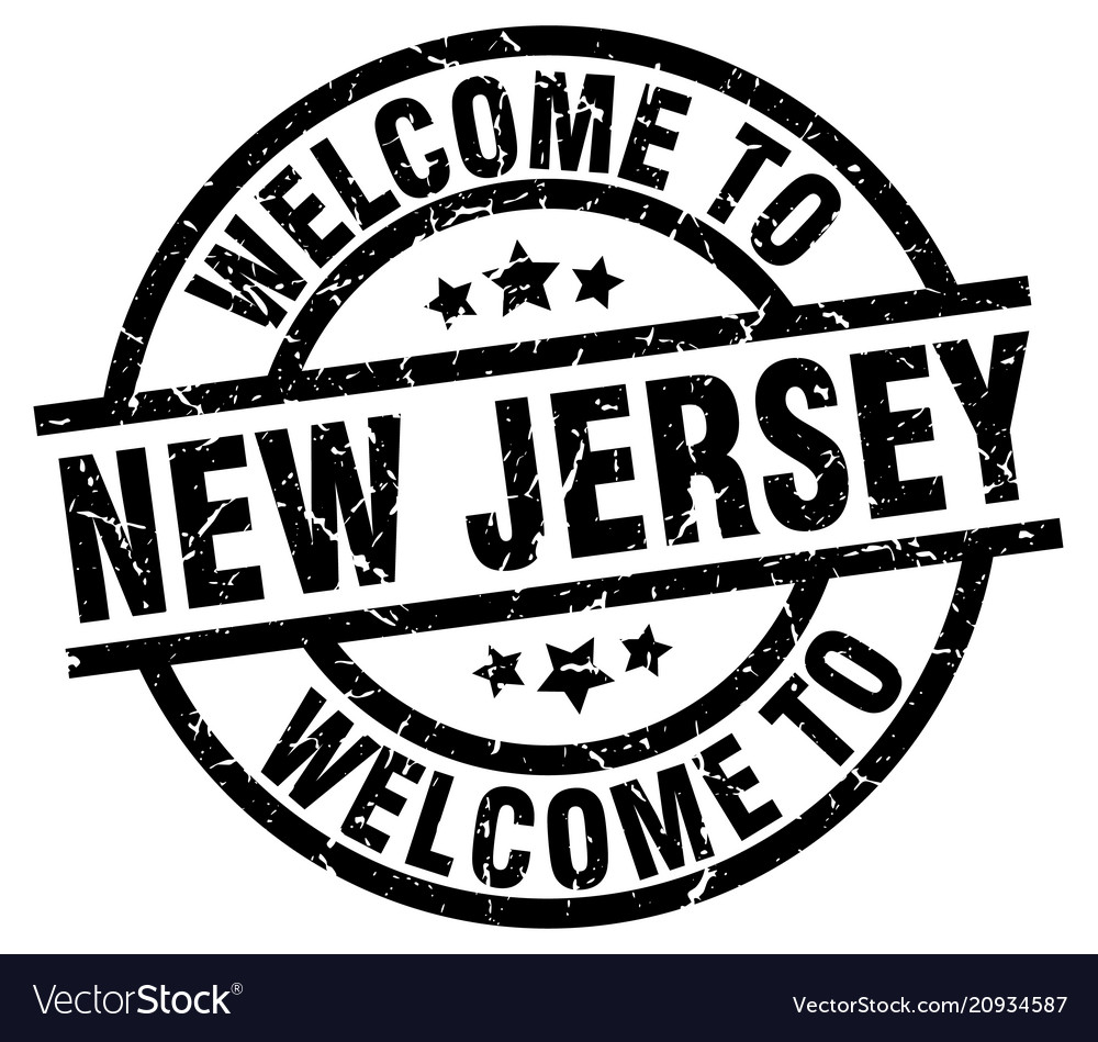 Welcome To New Jersey Black Stamp Vector Image