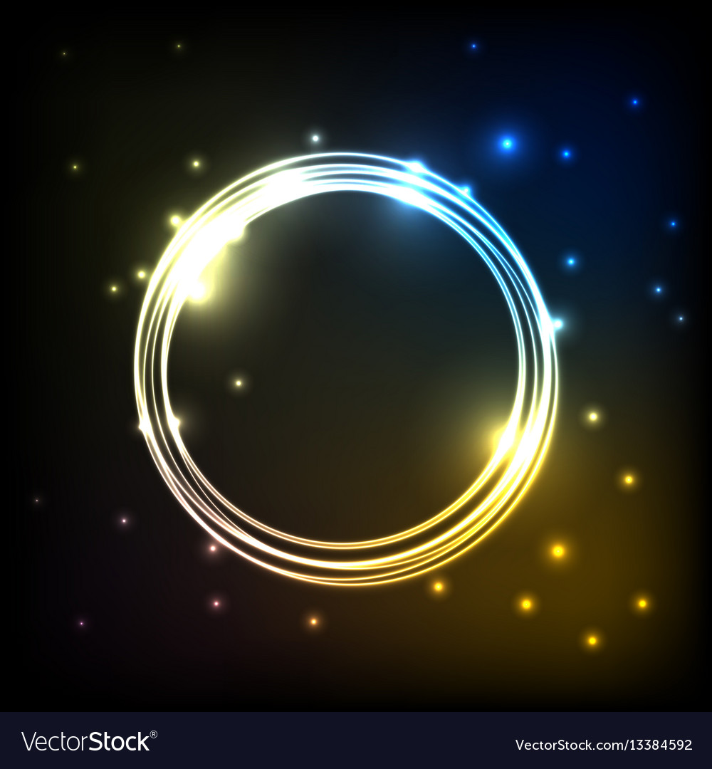 Abstract colorful plasma background with circles