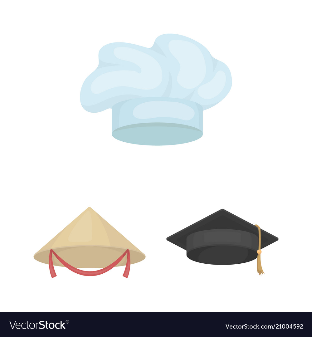 Different kinds of hats cartoon icons in set Vector Image ff880929b307