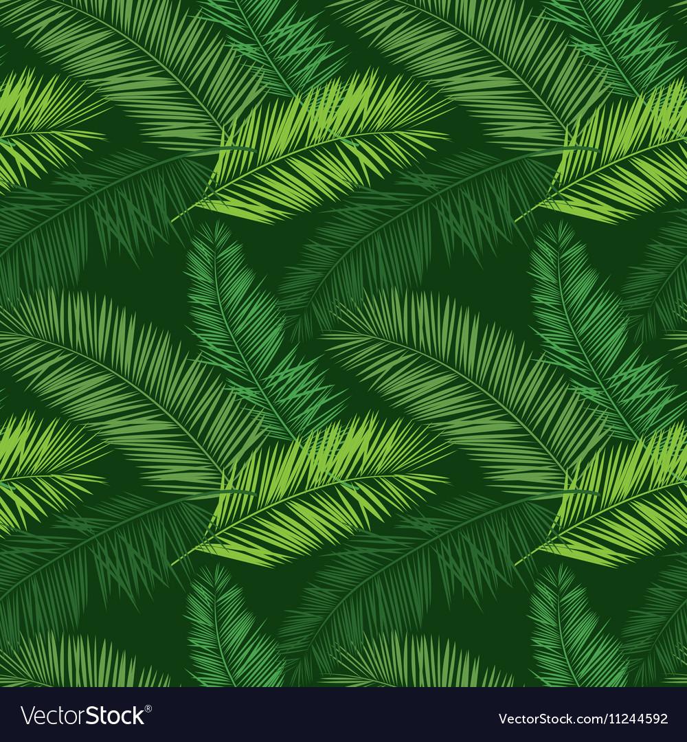 Green palm seamless pattern hawaiian shirt pattern