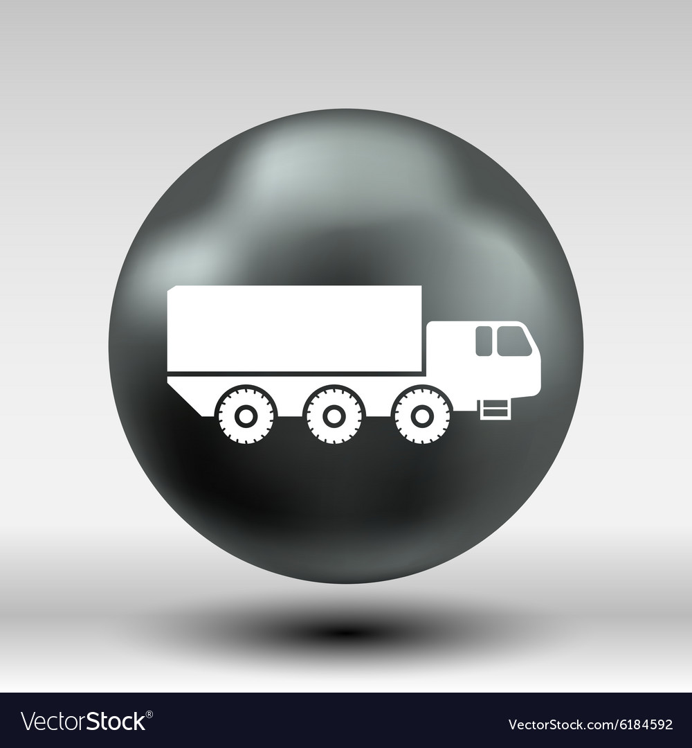 Military Truck icon button logo symbol concept