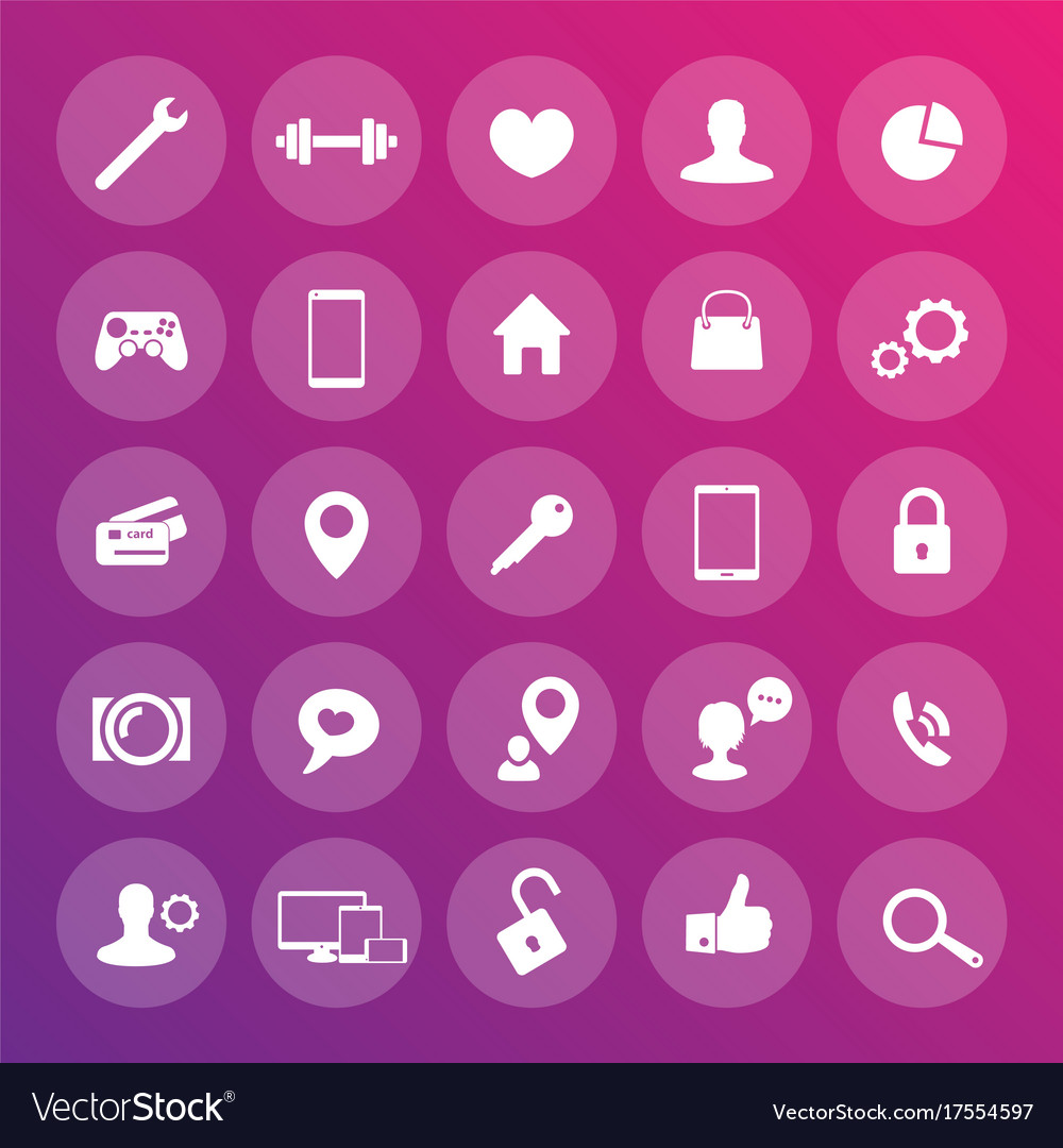 25 icons for web apps development websites