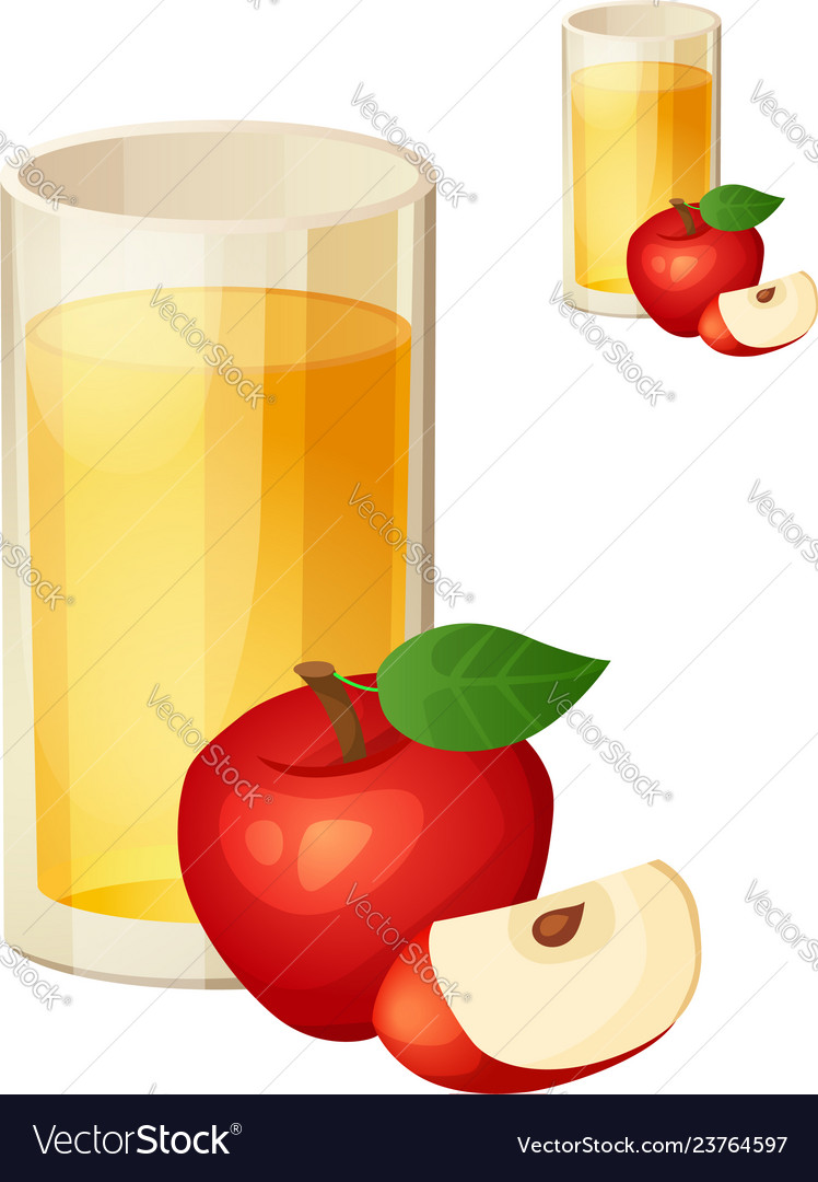 Apple juice detailed icon isolated on