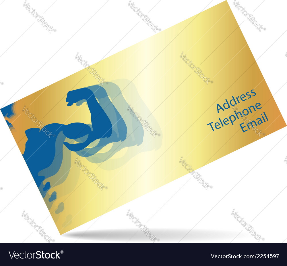 Business card for gym and fitness royalty free vector image business card for gym and fitness vector image colourmoves