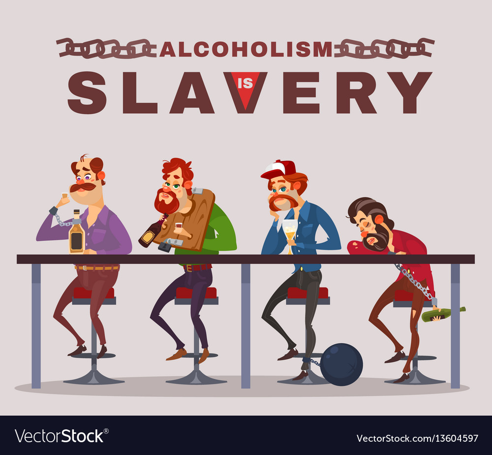 Cartoon of men with alcohol vector image