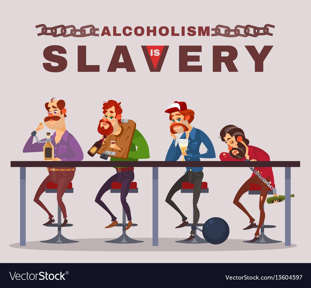 Cartoon of men with alcohol