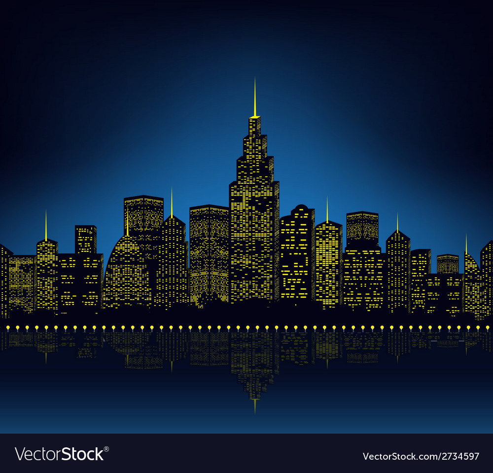 City lights cityscape