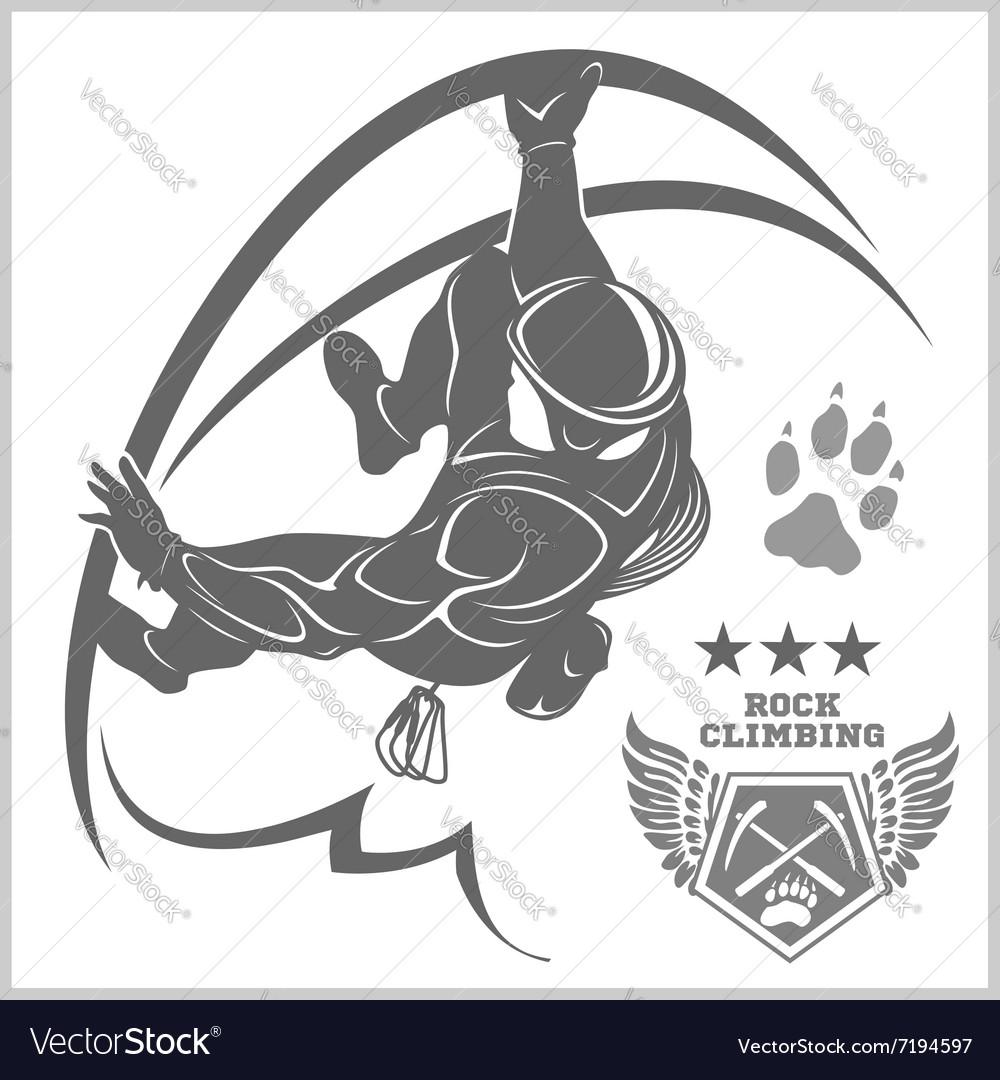 Climbers and Mountain climbing emblem