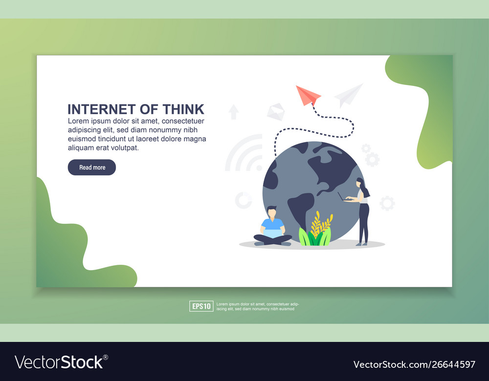Landing page template internet think modern