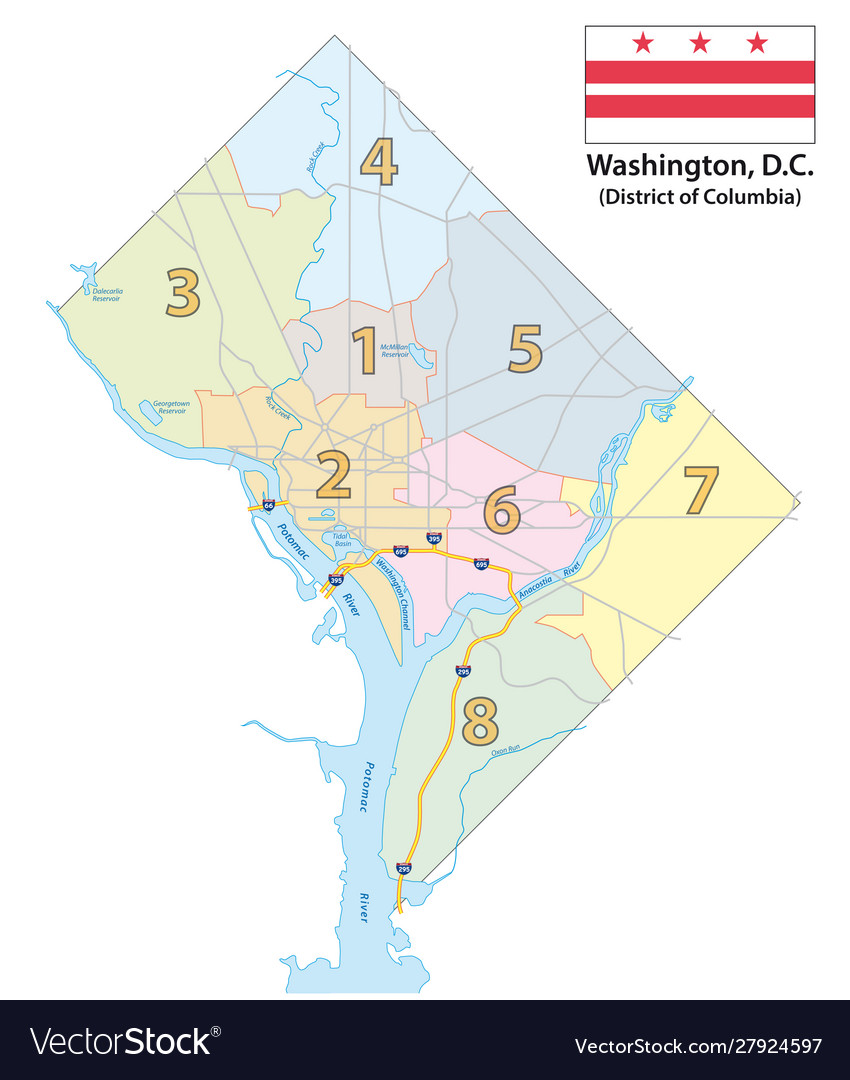 Map eight districts washington dc