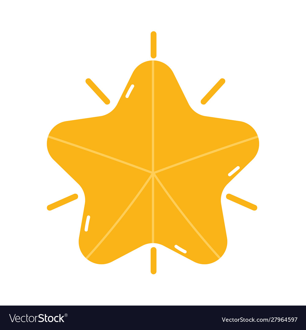 Merry christmas gold star decoration icon