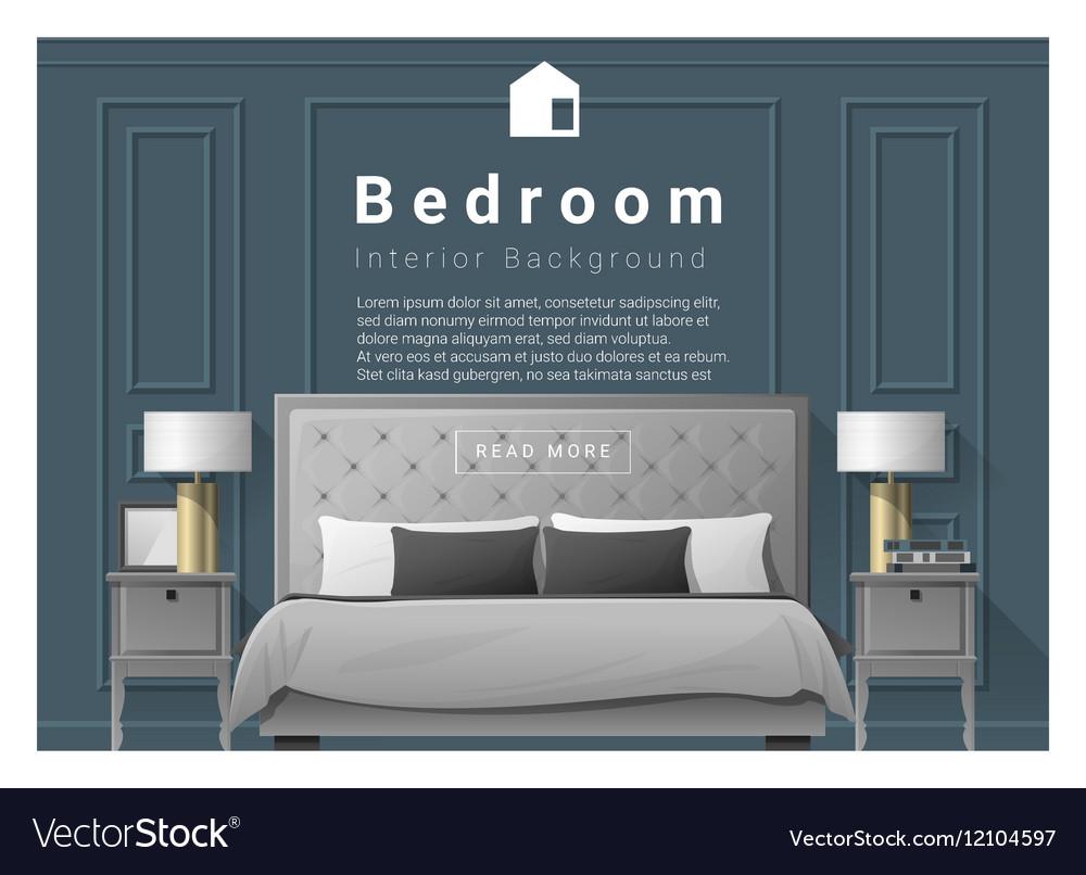 Modern Bedroom Background Interior Design 2 Vector Image