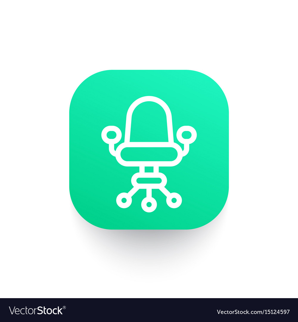 Office chair icon in linear style vector image