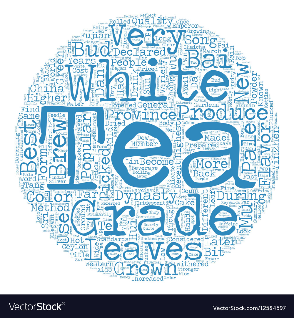 Tea How Is White Tea Graded text background
