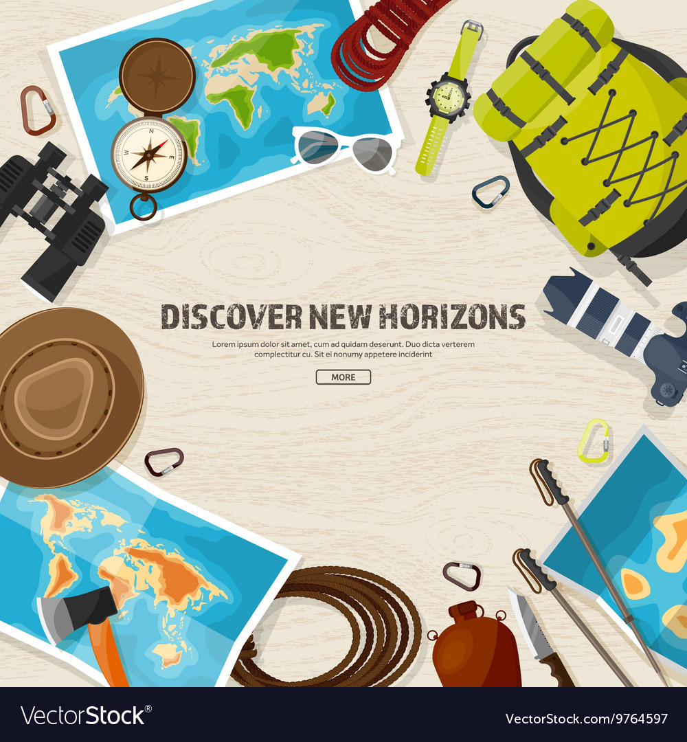 Travel and tourism Flat style World earth map