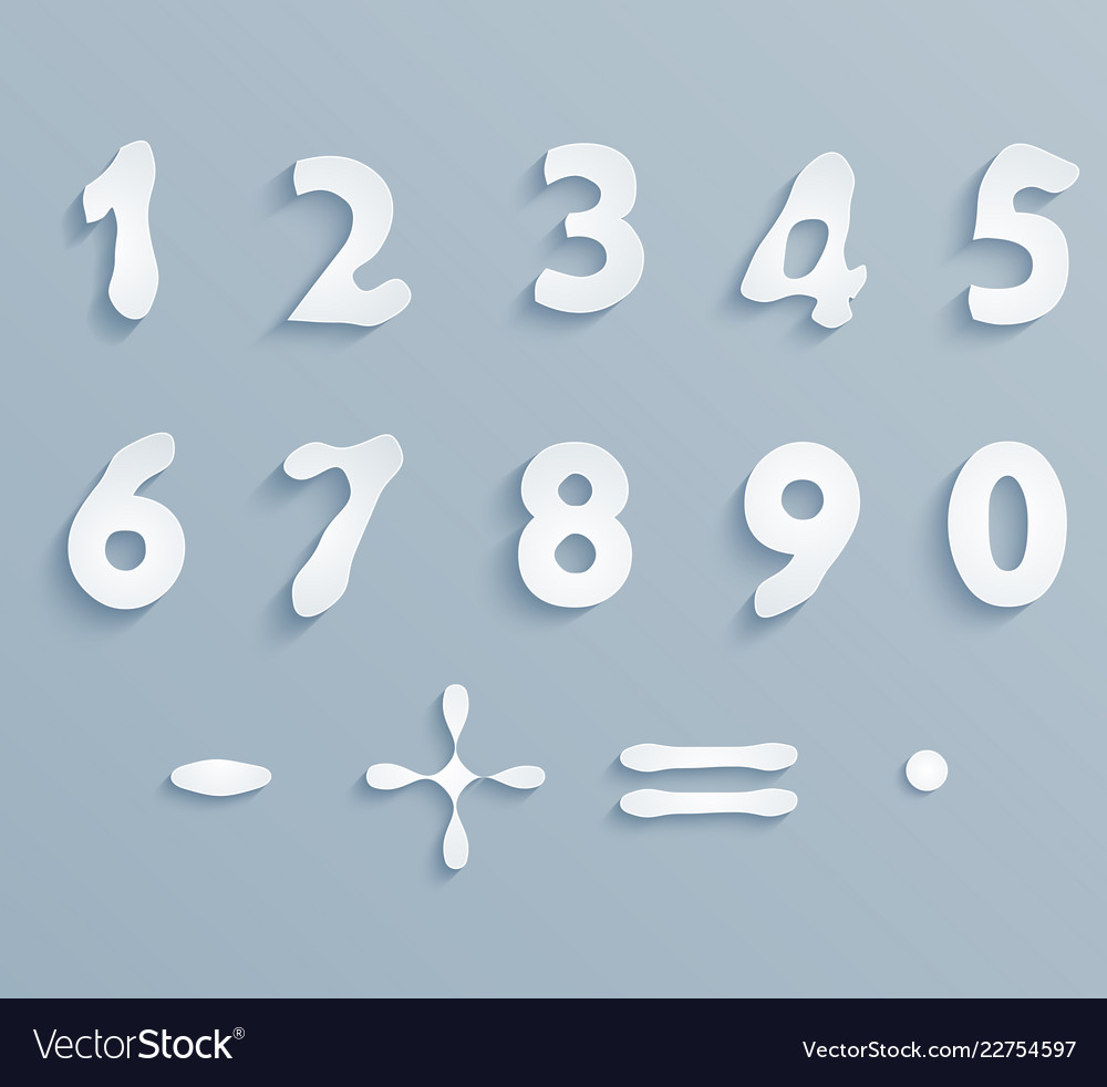 White paper digits
