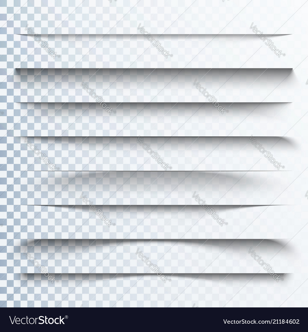 3d transparent shadows effect page dividers with