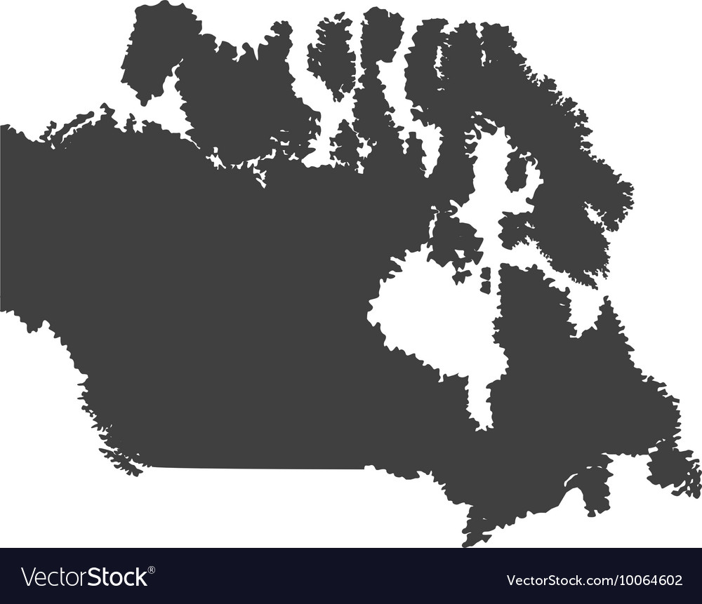 Map Of Canada Silhouette.Canada Map Silhouette Icon