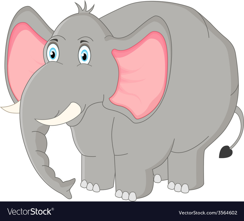 Cartoon elephant Royalty Free Vector Image - VectorStock