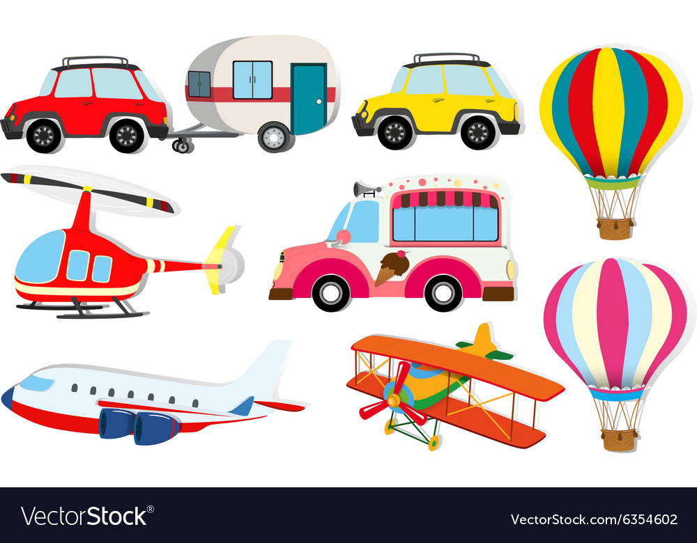 Different Kind Of Transportation Royalty Free Vector Image
