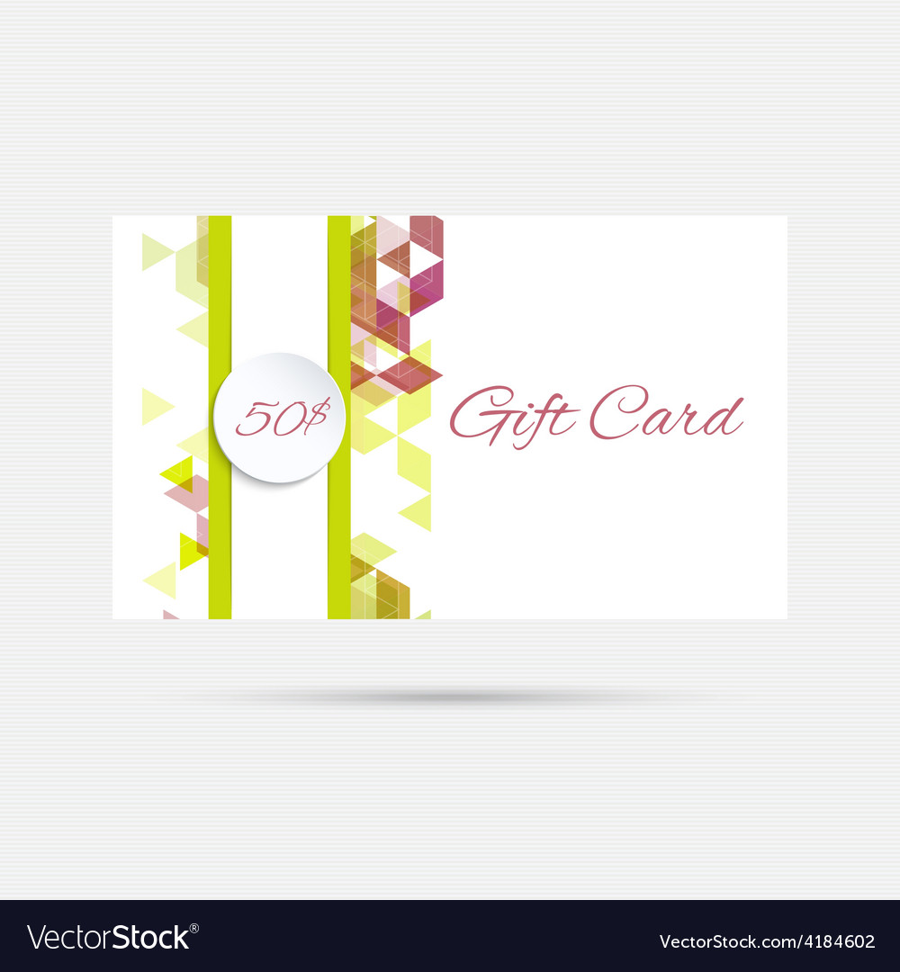 gift card with a round badge royalty free vector image