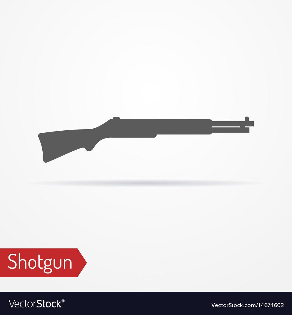 Hunter rifle silhouette icon vector image