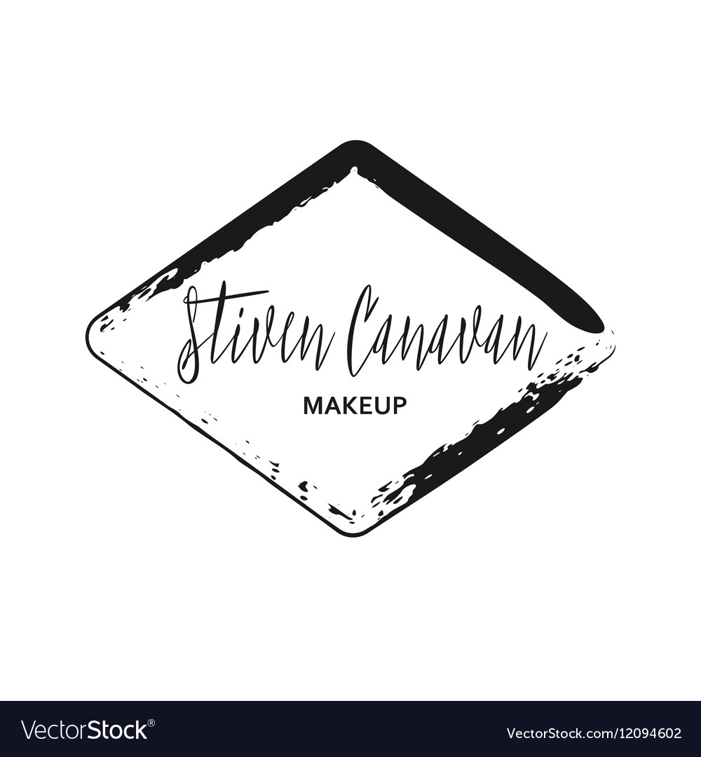 Makeup Artist Design Logo Template Vector Image
