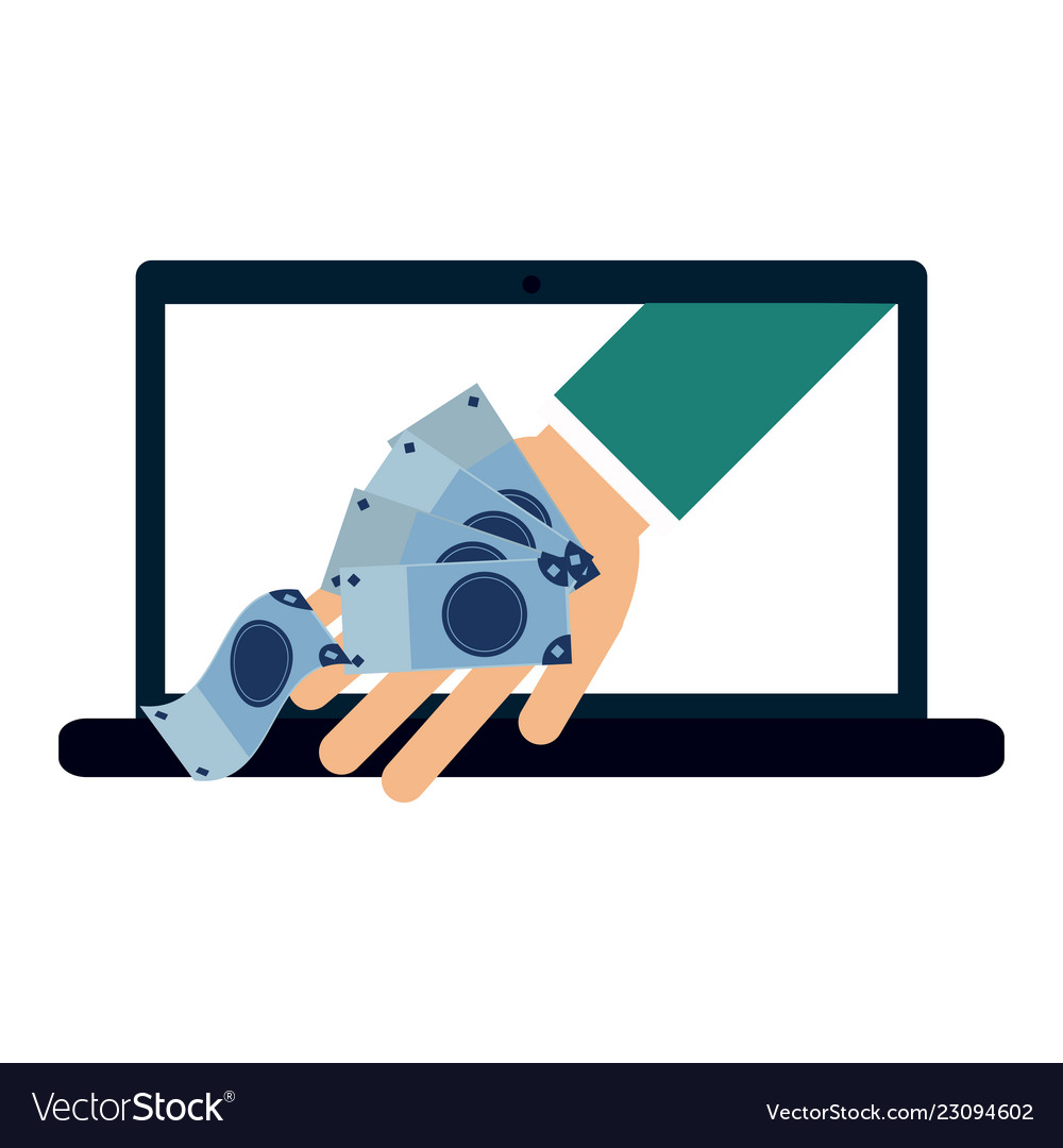 Online Payment And Money Transfer Vector Image