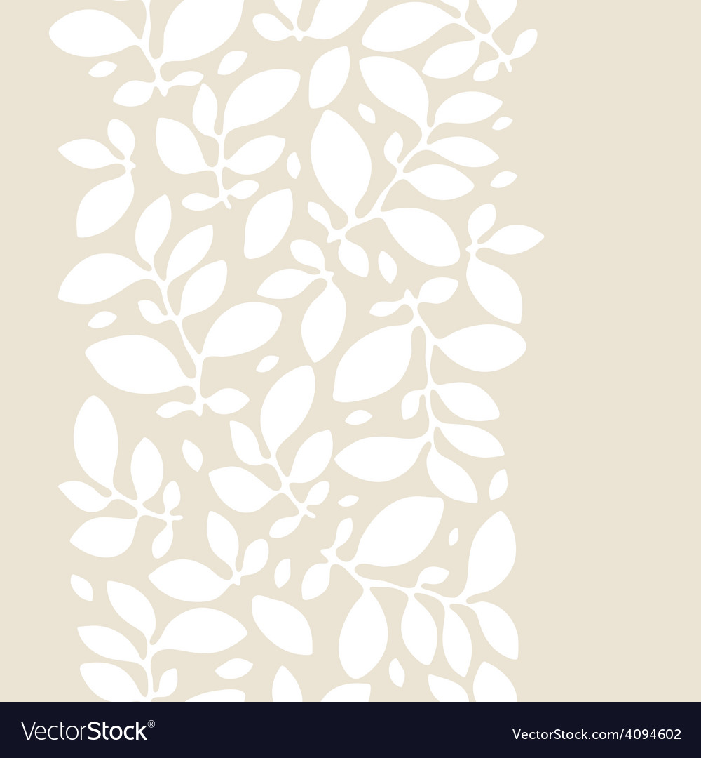 Seamless nature pattern with stylized leaves vector image