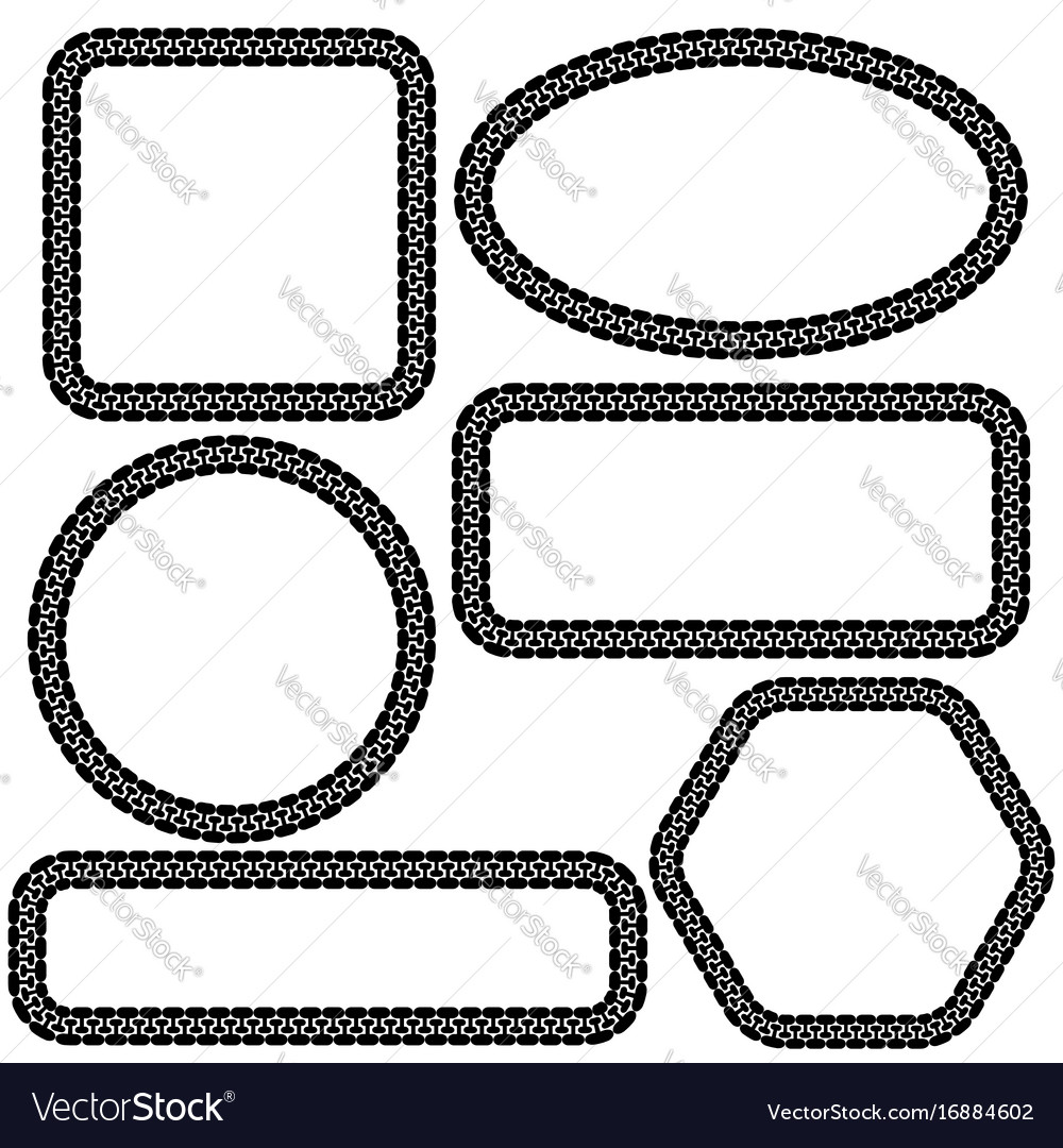Set of different frames Royalty Free Vector Image