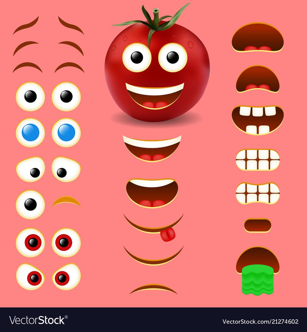Tomato male emoji creator design collection