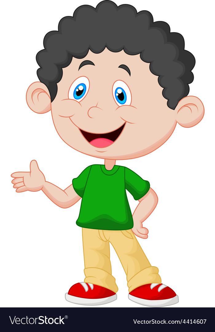 cute little boy cartoon royalty free vector image rh vectorstock com little boy cartoon character little black cartoon boy