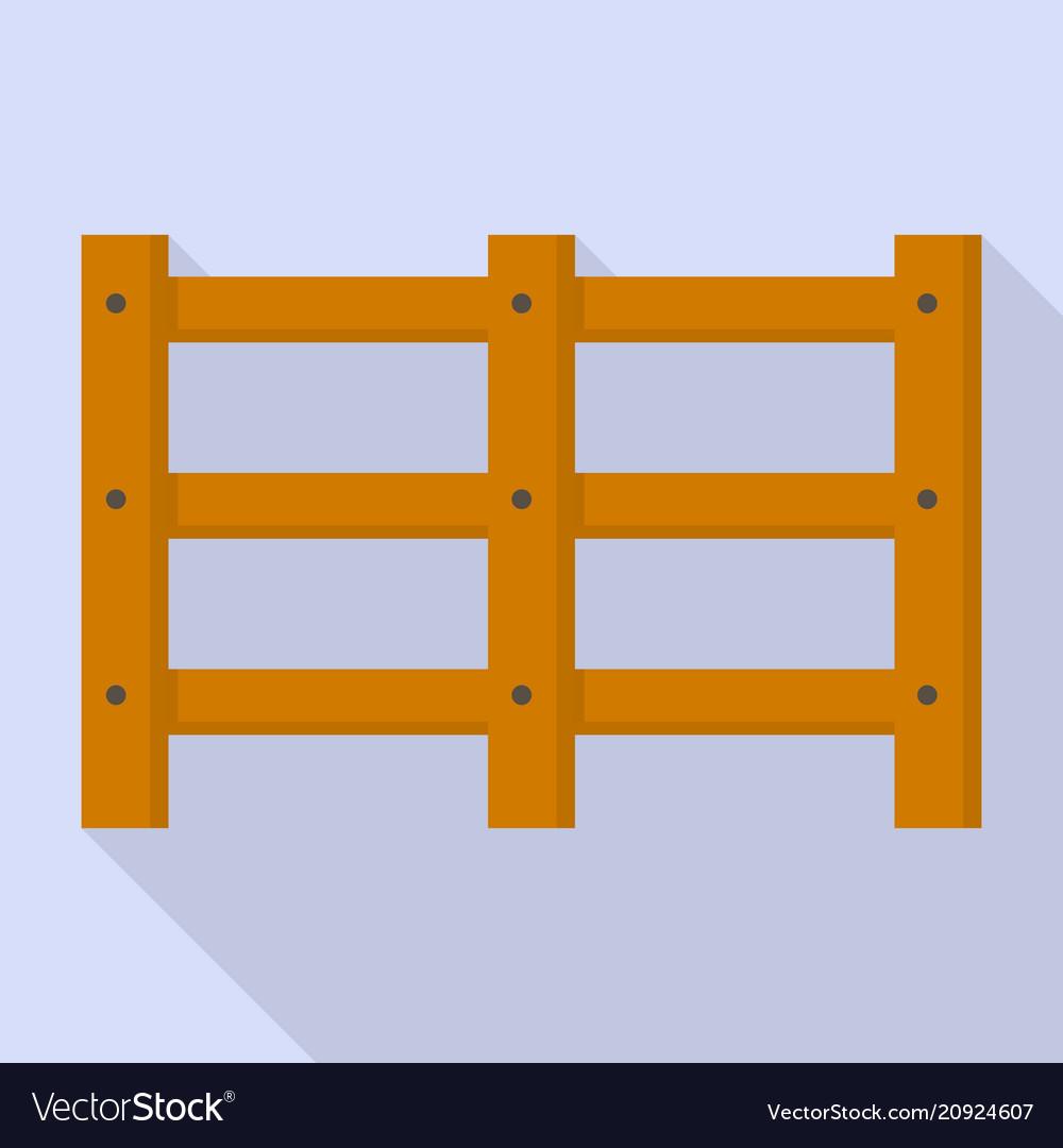 Farm wood barrier icon flat style