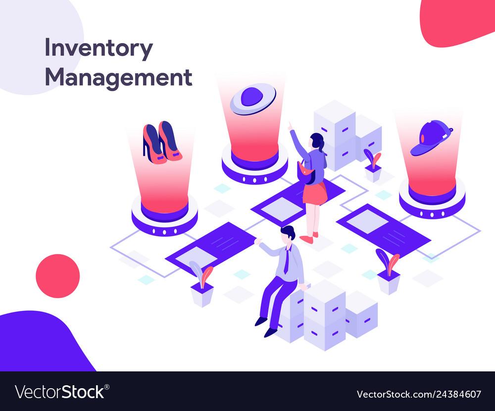 Inventory management isometric modern flat
