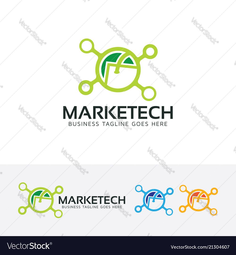 Marketing technology logo design