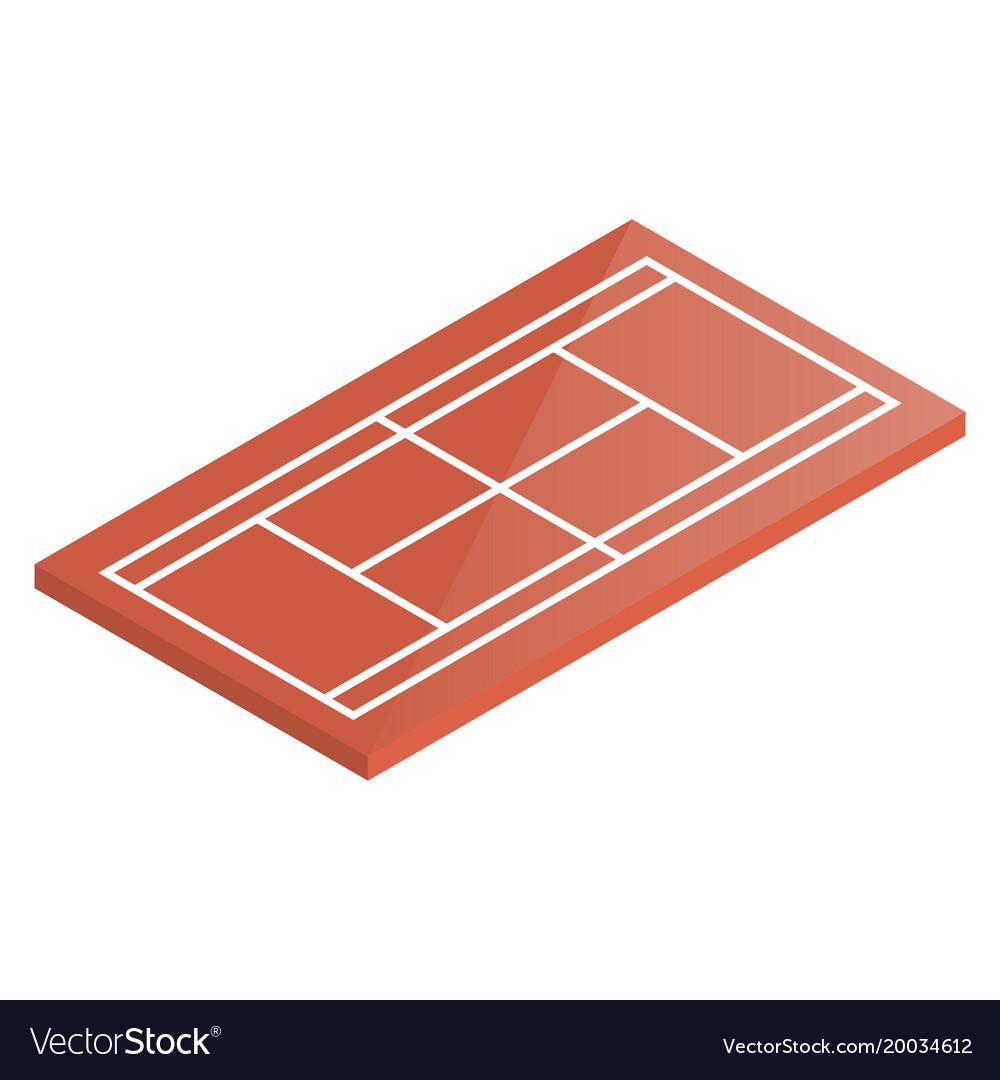 Icon playground tennis in isometric