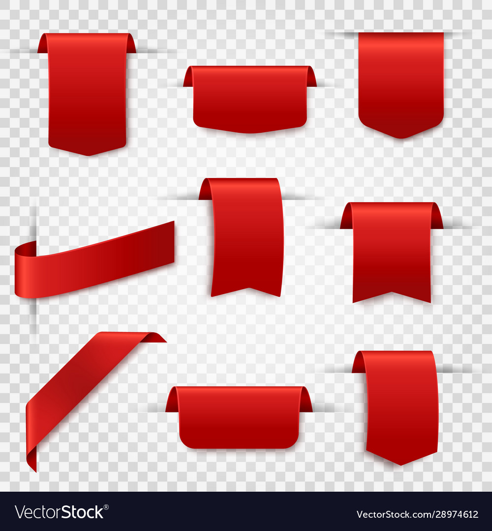 Red silk labels blank discount price tags