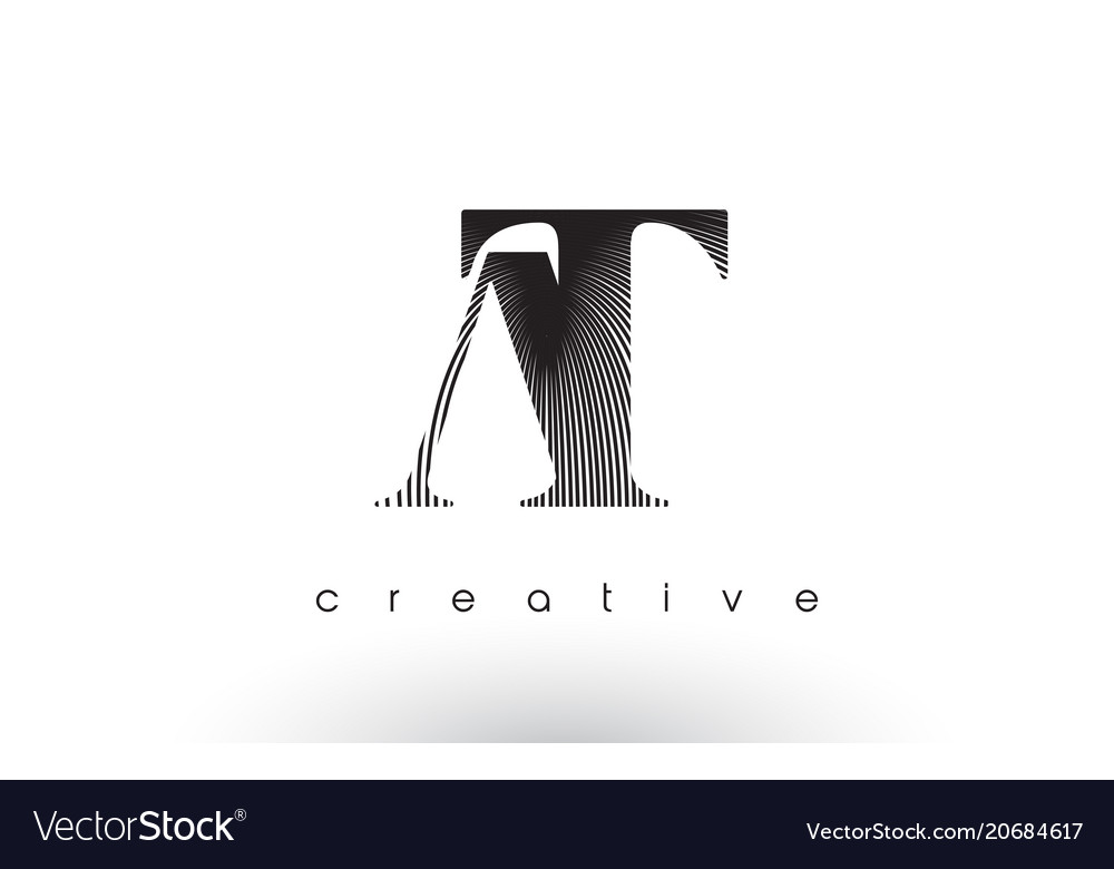 At logo design with multiple lines and black and